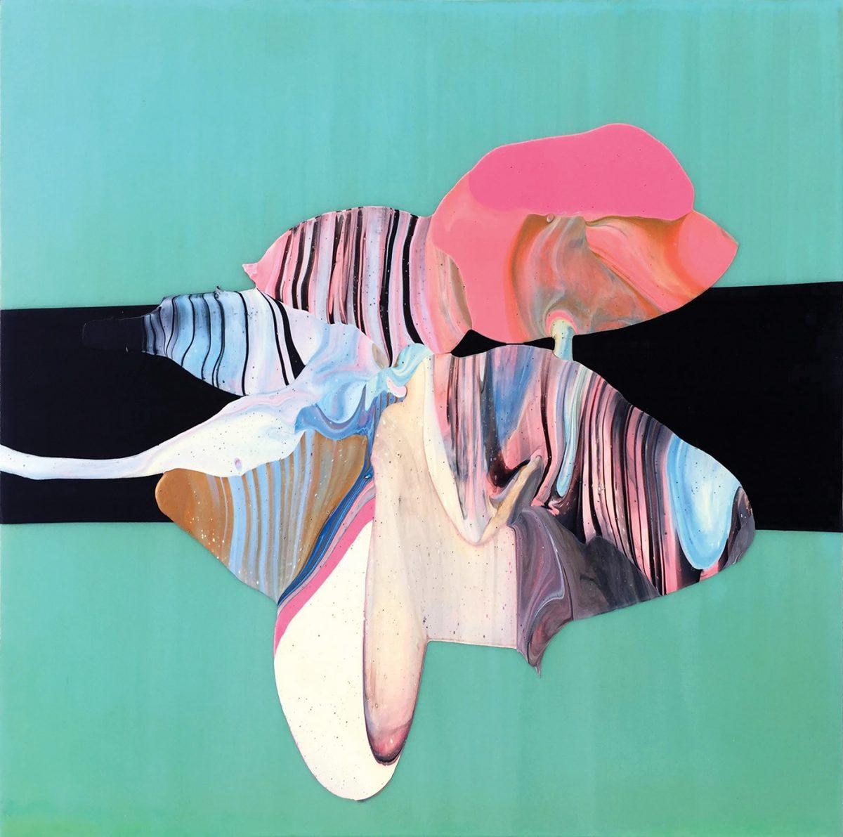 """Marion Lane. Untitled 4, 2015. Acrylic on panel. 24"""" x 24""""Untitled 4, 2015. Courtesy Launch LA."""