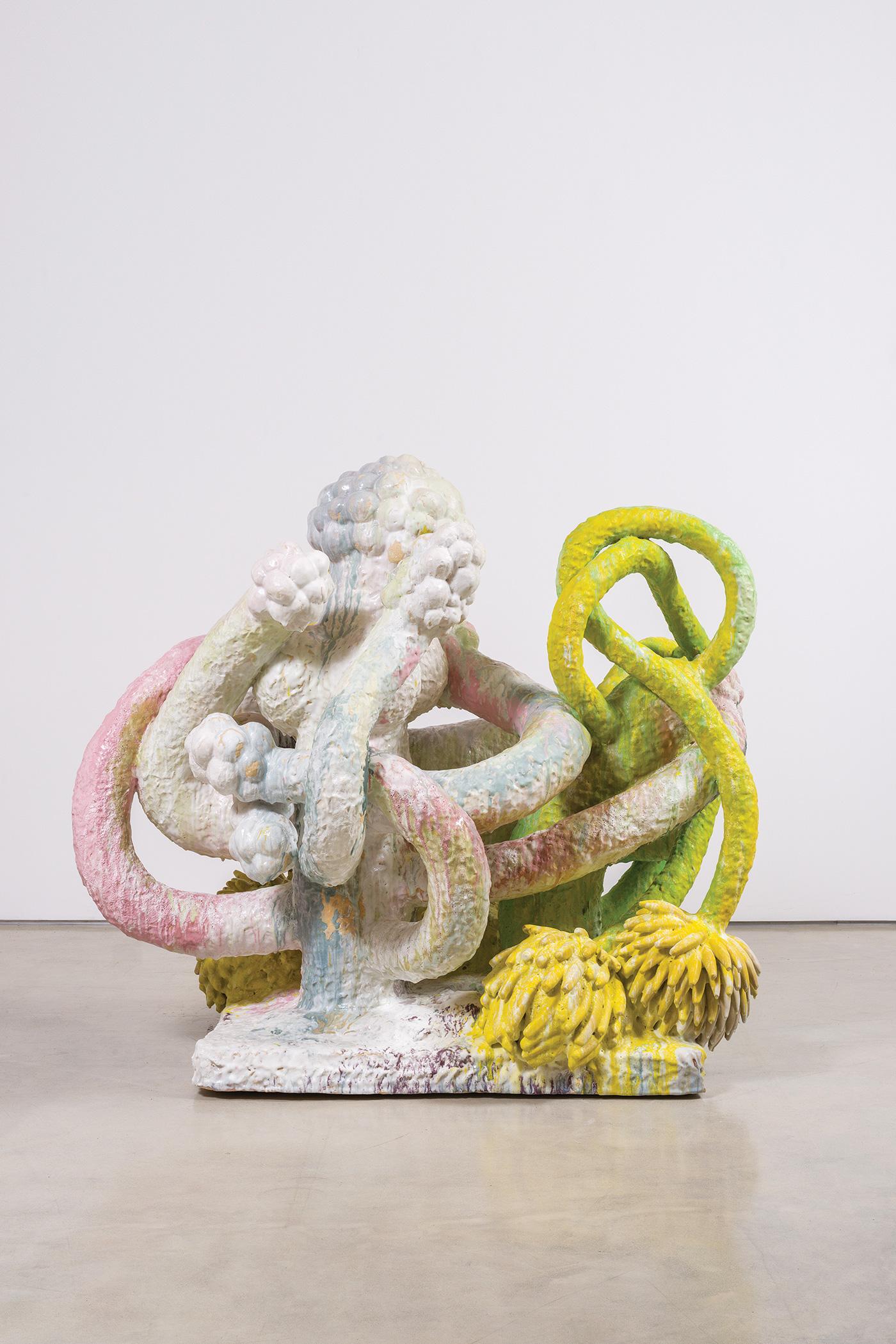 Matt-Wedel-'Banana-tree',-2015-ceramic-72-x-79-x-58-in.-(182.9-x-200.7-x-147.3-cm)-Copyright-Matt-Wedel.-Courtesy-of-L.A.-Louver,-Venice,-CA.-
