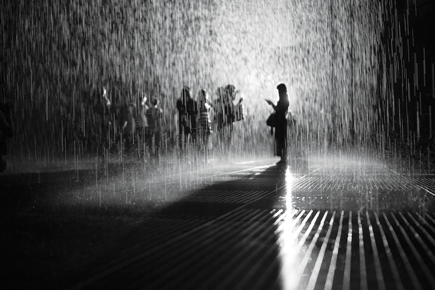 Rain Room by Random International (2012). Rain Room at Yuz Museum. Photo: Delia Keller