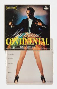 Christian Marclay. Continental, 1991. Two record covers and cotton thread. Courtesy Paula Cooper Gallery, New York