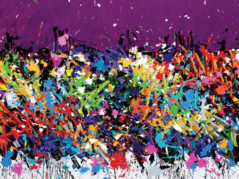 JonOne | Walking Through The Darkness, 2016, Acrylique, Encre et Posca Sur Toile, 144 x 198 cm.