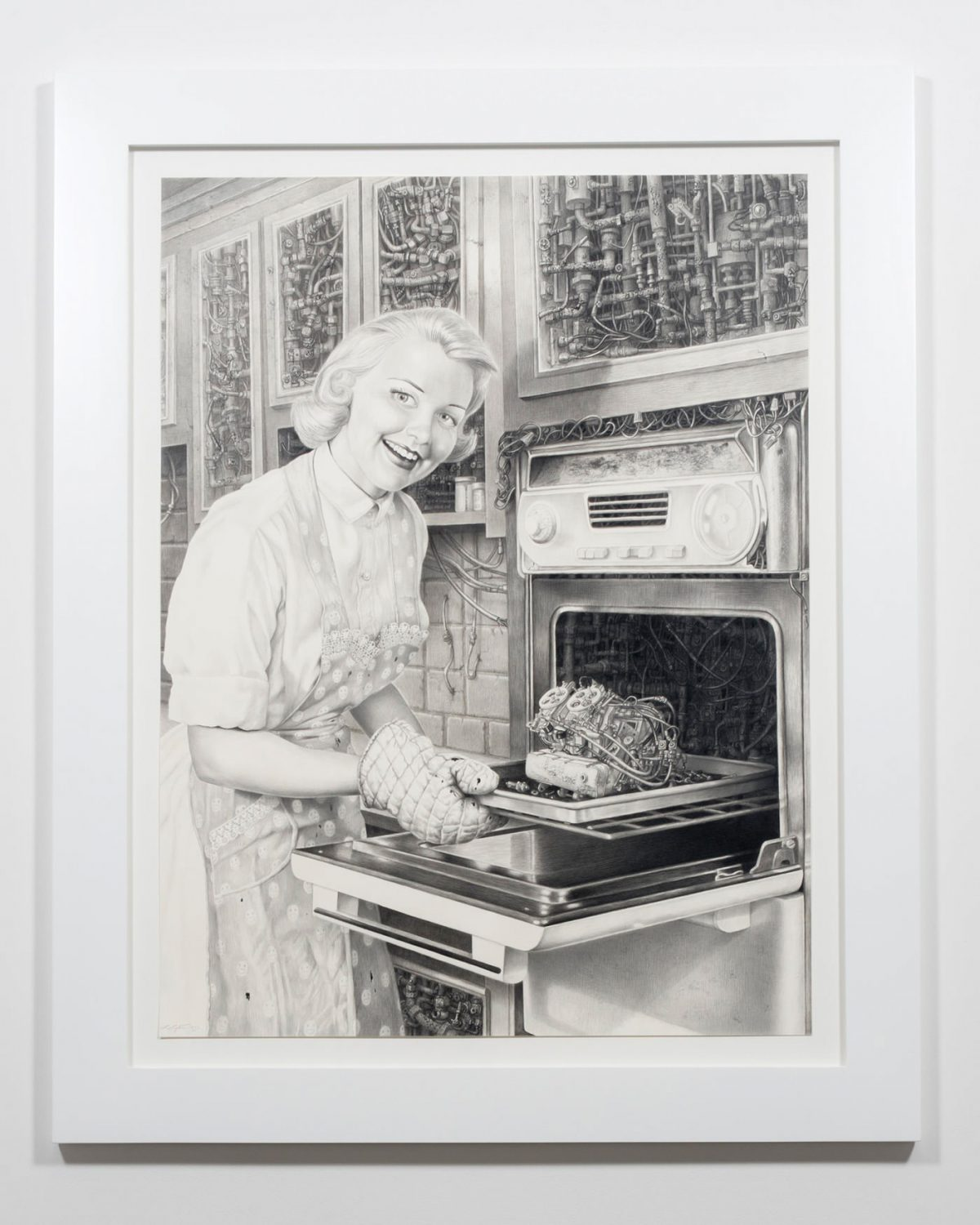 Laurie Lipton | Techno Rococo, 2016. Ace Gallery, Los Angeles.