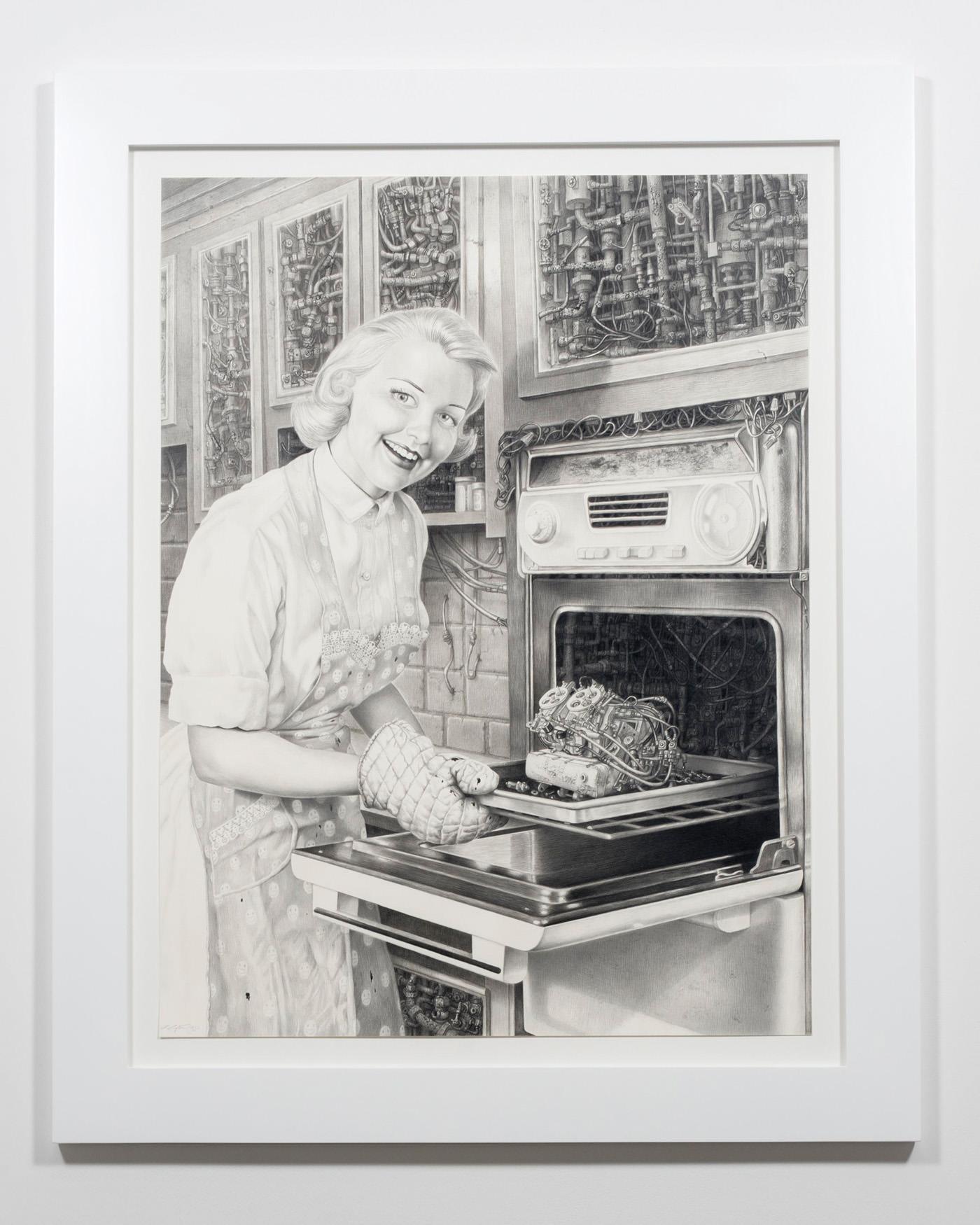 Laurie Lipton | Techno Rococo, 2016. Ace Gallery, Los Angeles.