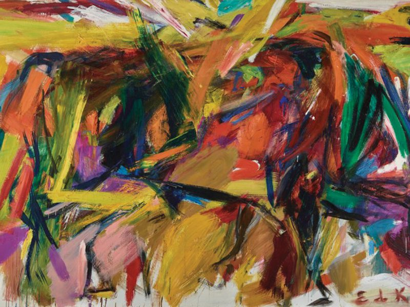 Elaine DeKooning. Bullfight, 1959. Oil Paint on Canvas, Denver Art Museum: Vance H. Kirkland Acquisition Fund, 2012.300. © Estate of Elaine de Kooning.