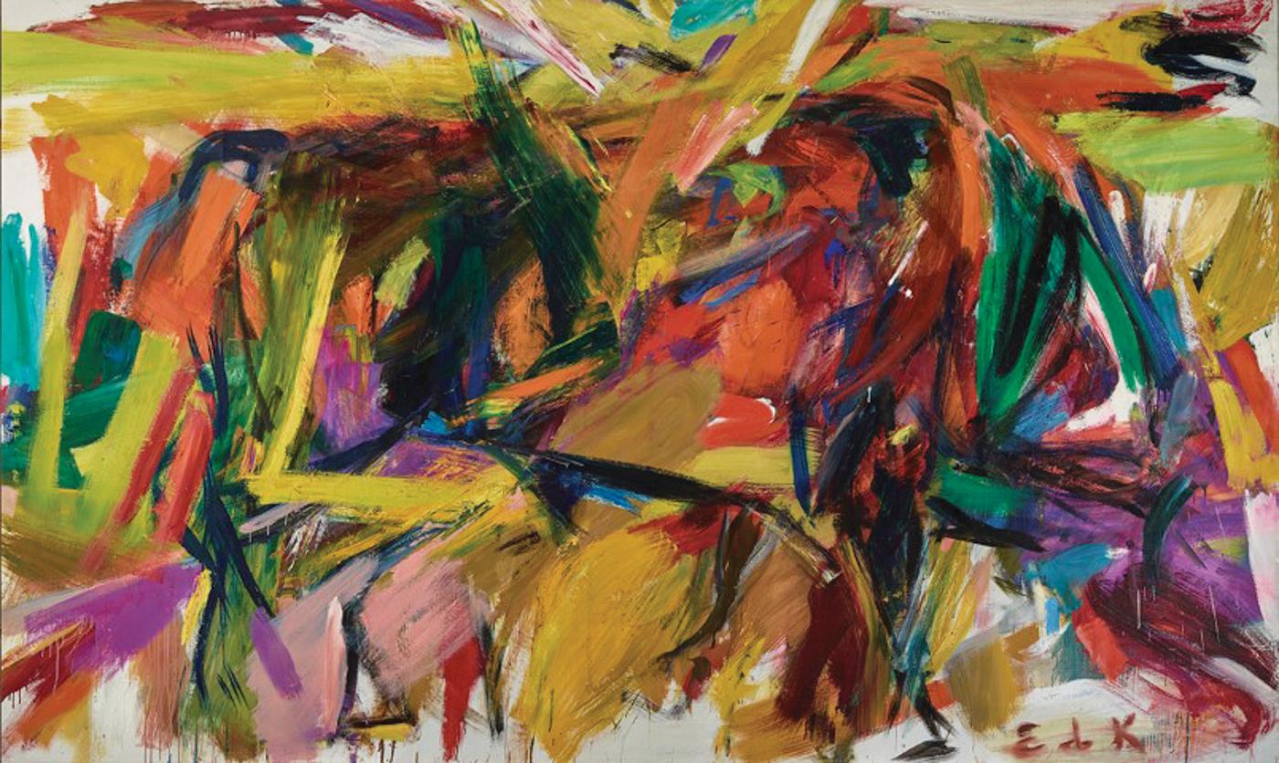 Elaine DeKooning. Bullfight, 1959. Oil Paint on Canvas, Denver Art Museum: Vance H. Kirkland Acquisition Fund, 2012.300. © Estate of Elaine de Kooning.